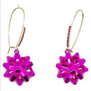 Betsey Johnson. Pink Bow Earrings